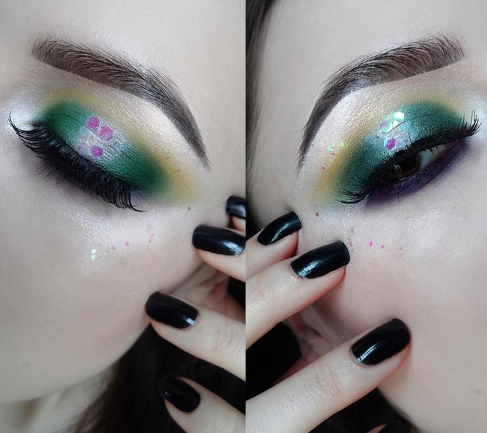 Basil green & mulberry hues