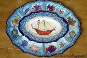 Ceramics art : Wall Plates handpainted