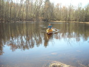 Canoeing on a lake Cades Cove