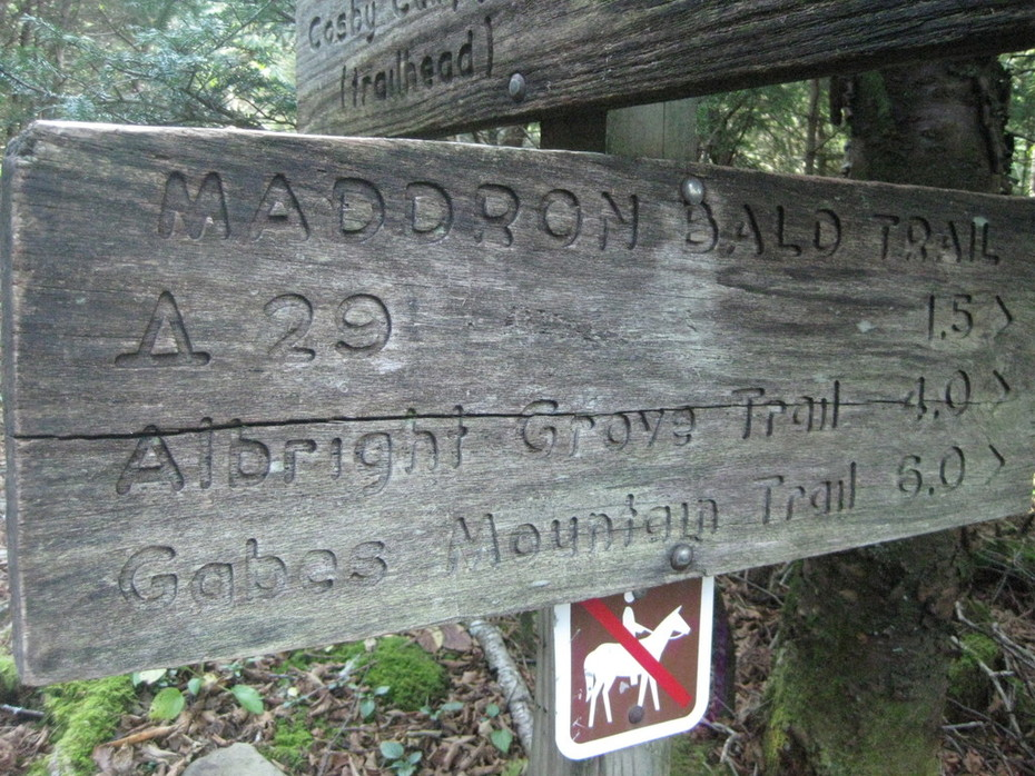 Trail signs!