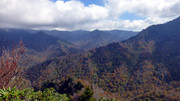 View to the south. Newfound Gap is hidden behind ridge on the right.