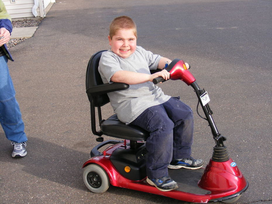 Tyler and his new set of wheels