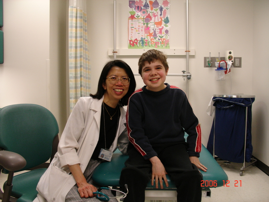 Anthony and Dr. Wong at CCHMC