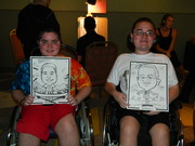 Patrick and Matthew Denger with their caricatures!