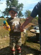 Evan fishing