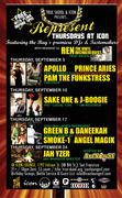 Represent (Thursdays) at Icon - Sept. 09 flyer