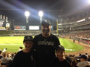 Guaranteed Rate Field with the family, August 2015