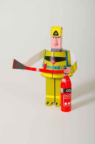 Pompier avec extenteur