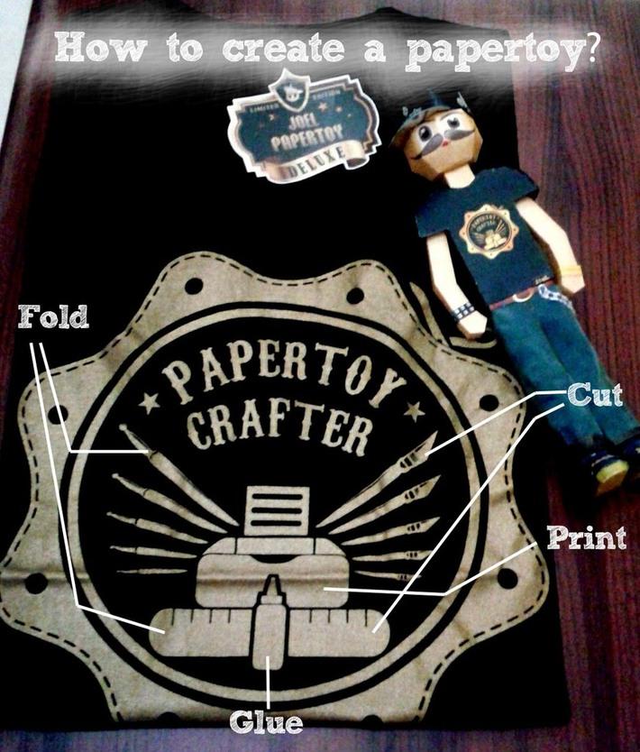 How to create a papertoy? #printcutfoldglue