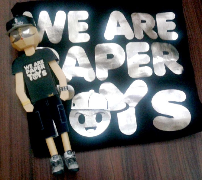 We are Papertoys #papertoy #teeshirt #apparel #promotion