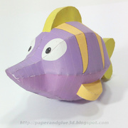 Paper toy de pez espada