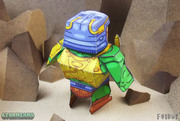 Eternians Man-At-Arms Fan Art Paper Craft Toy - Back