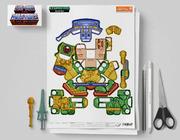 MU Eternians Man-At-Arms Fan Art Paper Toy Flat Template Mock Up