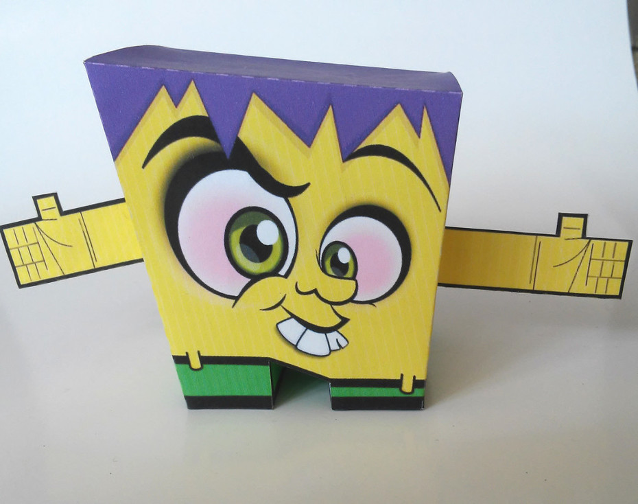 papertoy cubic front side