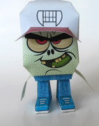 zombie papertoy_front