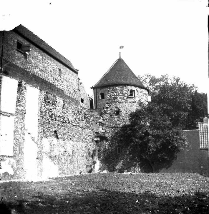 Pinnacle Tower part of the Town Wall at Great Yarmouth.