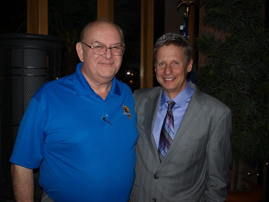 Gary Johnson  and me