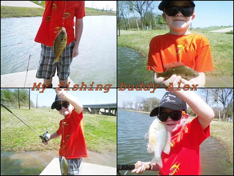 My fishing buddy Alex