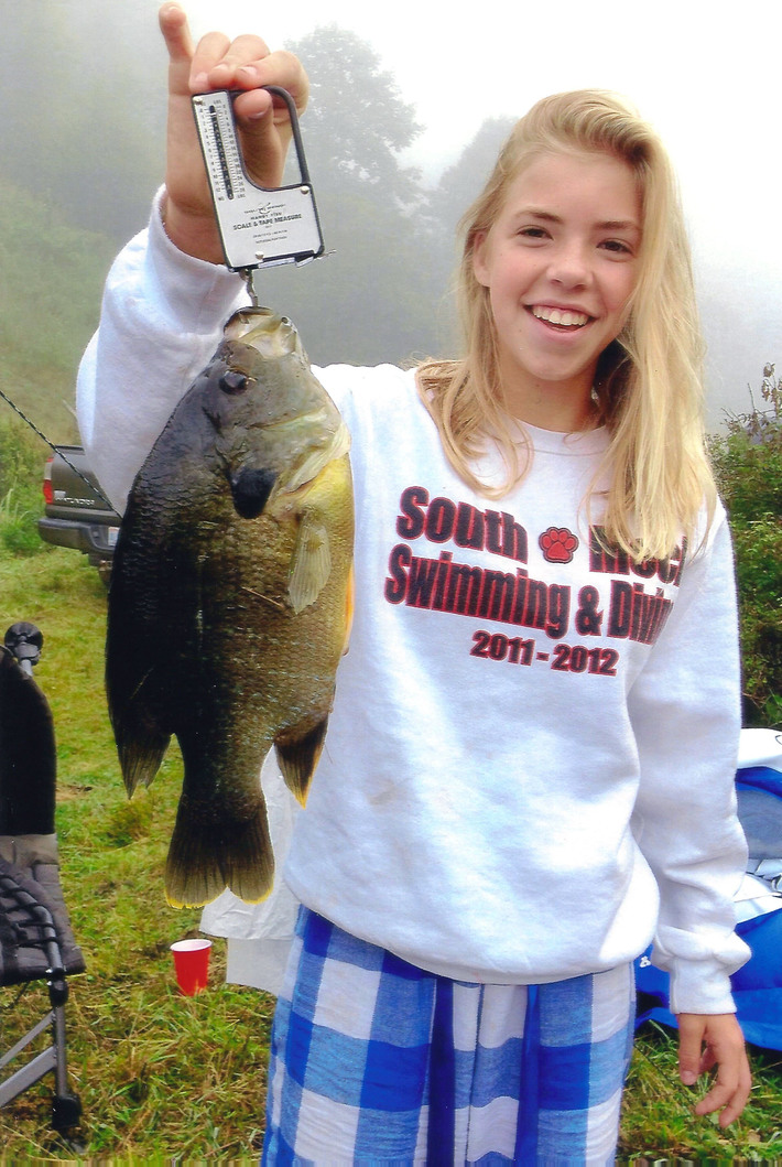 Congrats To 13 Year Old Victoria Navaroli on her New North Carolina State Record Green Sunfish