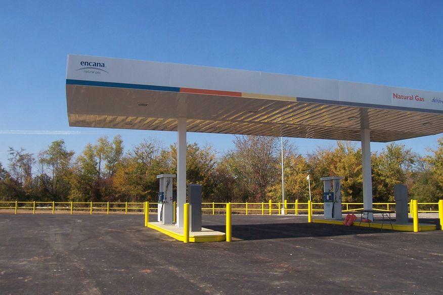 Nov 14, 2010 - Encana natural gas fueling station near Armistead, LA