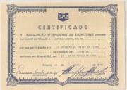 DIPLOMA DA ANE-ASSOCIACAO NITEROIENSE DE ESCRITORES - ANTONIO CABRAL FILHO - RJ