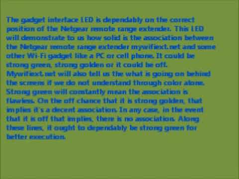 SIGNIFICANCE AND MEANING OF VARIOUS LEDs ON NETGEAR RANGE EXTENDERS