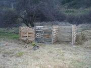 New compost bins at Queenstown harvest garden
