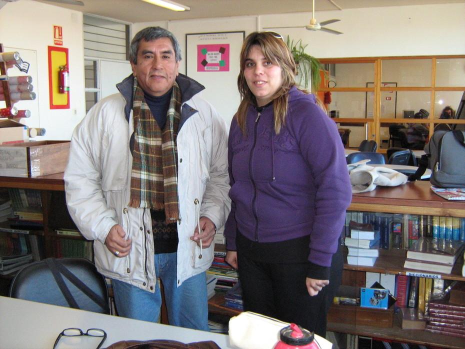 Carlos Arboleda en clase.
