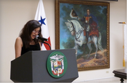POETA VENEZOLANA CARMEN R LARRAZABAL EN X CONCGRESO DE ESCRITORAS CELEBRADO EN PANAMA