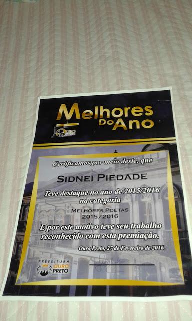 Sidnei Piedade_melhores poetas_2016 de Ouro Preto_MG