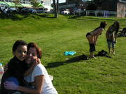 dante, mom and dad down at Alki beach