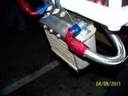 Engine-new oil cooler lft side view
