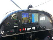 Dynon Skyview Panel with Backup airspeed and altimeter gauges.