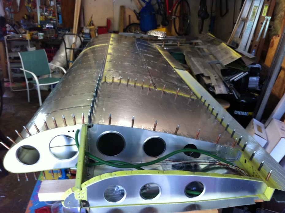 Right Wing Skins mostly riveted