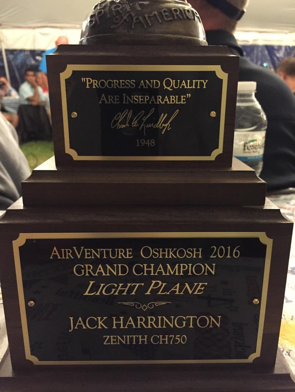Joe Harrington's Golden Lindy Trophy