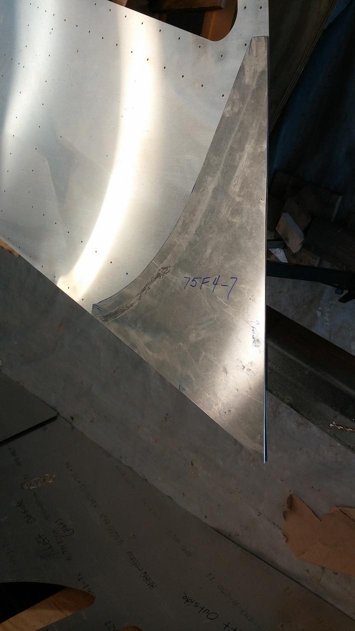Rear Fuselage Front Side Skin Doubler