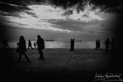 ΣΙΛΟΥΕΤΕΣ Νεα παραλία Θεσσαλονίκης.