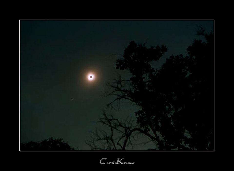 Totally eclipsed Sun + Jupiter