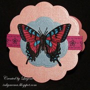 (2011 Card #60) Butterfly  on the round