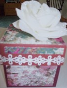 Maroon/White explosion box/outside/2 designer papers