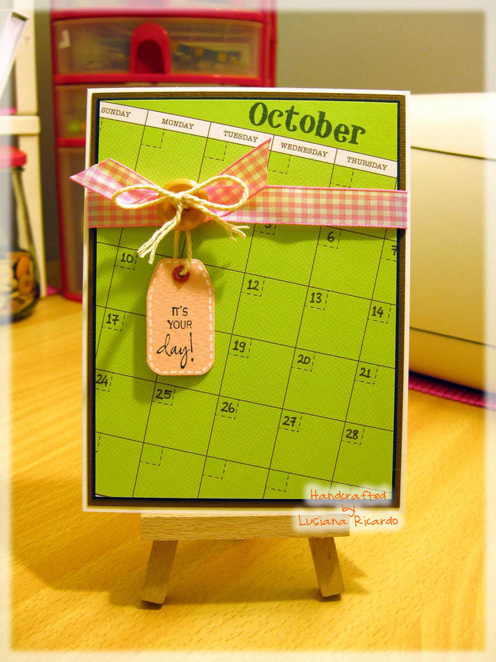 It's Your Day - Calendar Card
