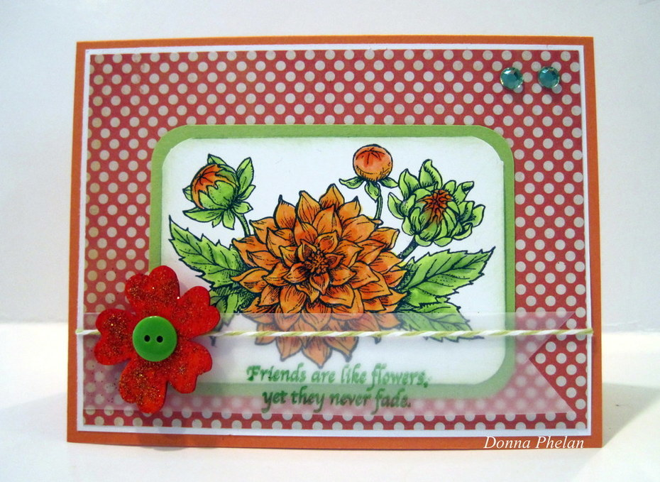 Dahlias With Wood Accent