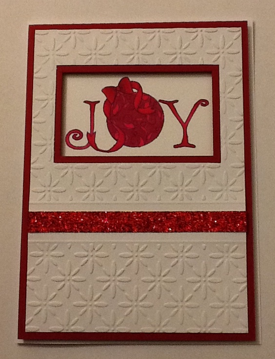 Recessed Christmas Card