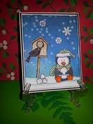 GKD Christmas with Penguin and Birdhouse