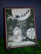 GKD  Snowman Peace Love & Joy
