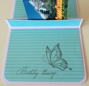 Birthday gift card holder inside