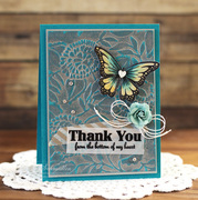 Embossed Thank You by Laurie Schmidlin