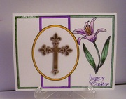 Purple Lily with Cross