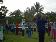Ashram Gandhi Puri CC Peace building through Yoga with 1000 people 20 of Dec 2009