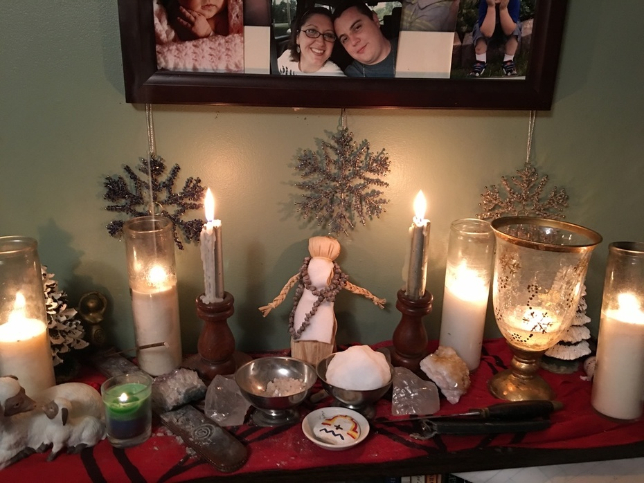 Family Altar Space on imbolc